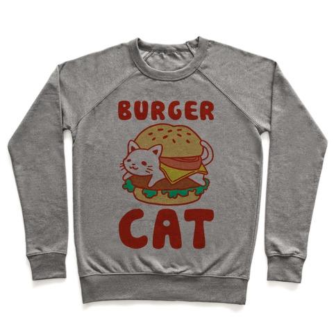 Burger Cat (Text) Pullover
