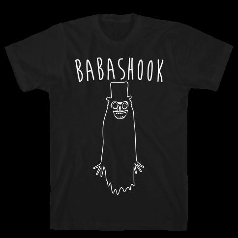 Babashook Parody White Print Mens T-Shirt