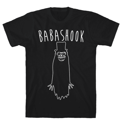Babashook Parody White Print Mens T-Shirt
