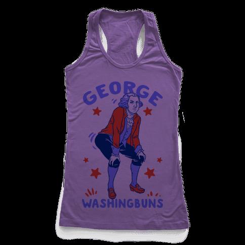 George Washingbuns Racerback Tank Top