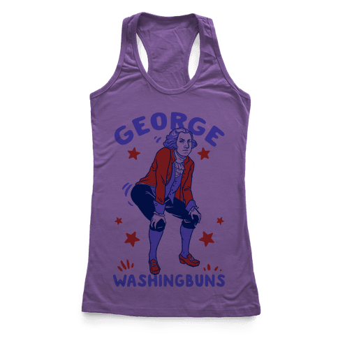 George Washingbuns Racerback Tank Top