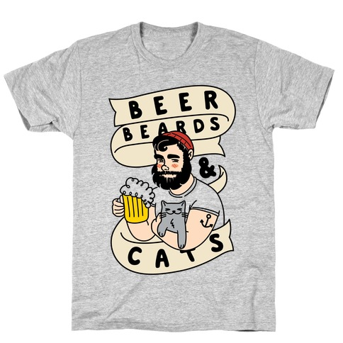 Beer, Beards and Cats T-Shirt