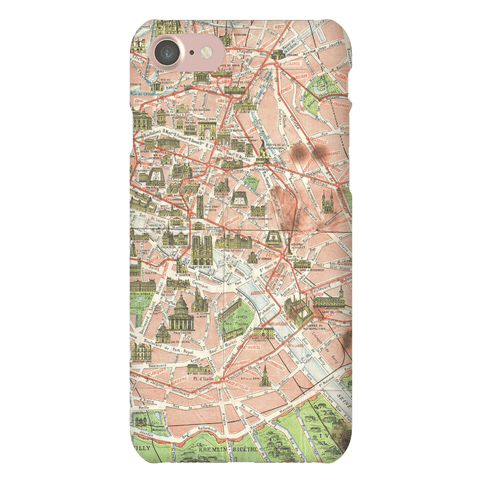 Vintage Paris Map Case