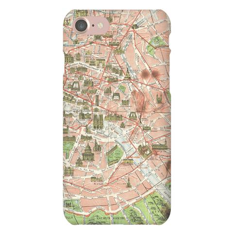 Vintage Paris Map Case Phone Case