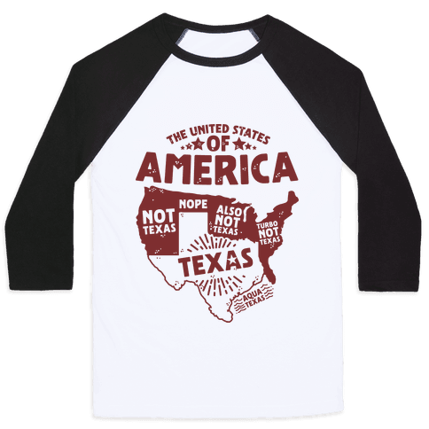 United States of Texas Baseball Tee
