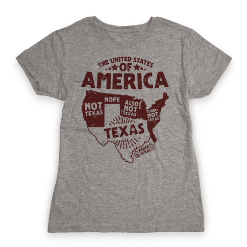 United States of Texas Womens T-Shirt