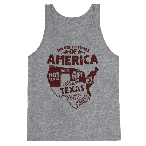 United States of Texas Tank Top