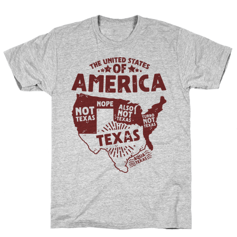 United States of Texas Mens T-Shirt
