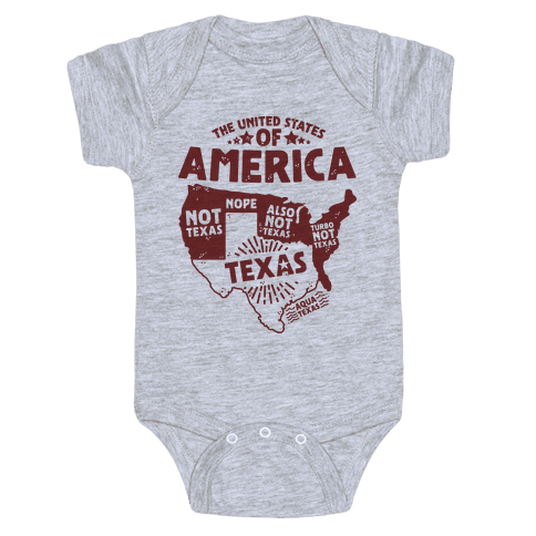 United States of Texas Baby Onesy