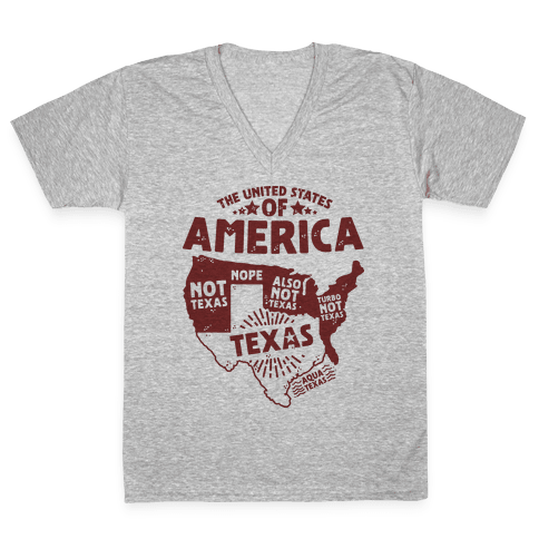 United States of Texas V-Neck Tee Shirt