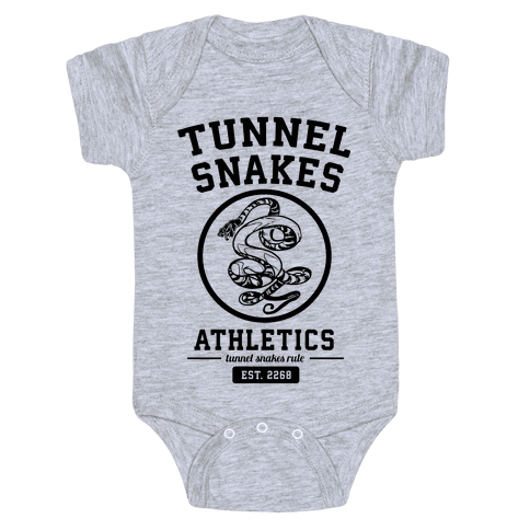 Tunnel Snakes Athletics Baby Onesy