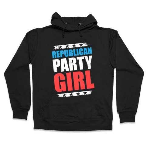 Republican Party Girl Hooded Sweatshirt