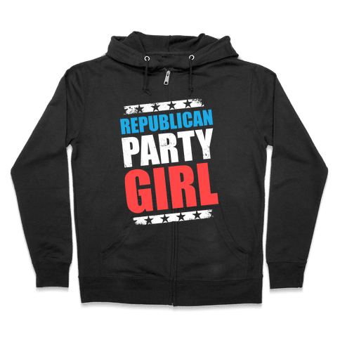 Republican Party Girl Zip Hoodie