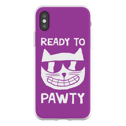 Ready To Pawty Phone Flexi-Case
