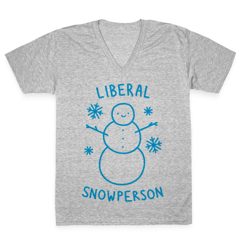 Liberal Snowperson V-Neck Tee Shirt