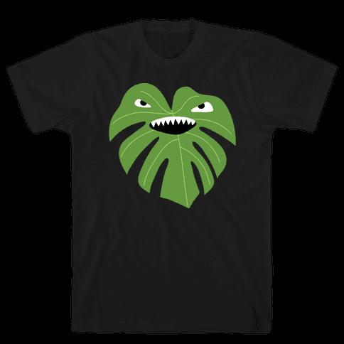 Monstera Leaf Monster Mens/Unisex T-Shirt