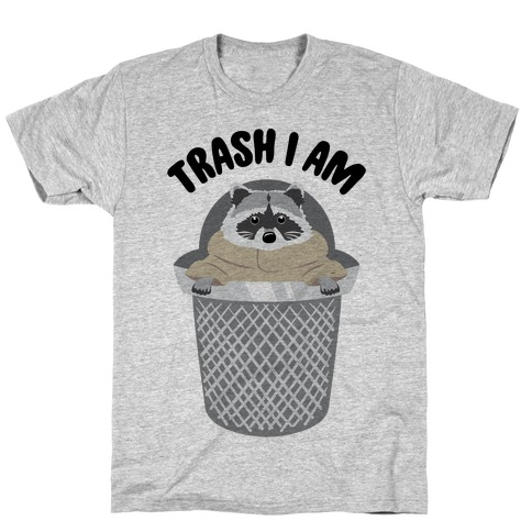 Trash I Am Raccoon Baby Yoda Parody T-Shirt