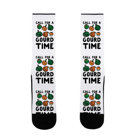 Call for a Gourd Time Sock
