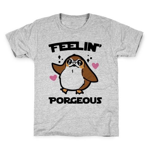Feelin' Porgeous Parody Kids T-Shirt