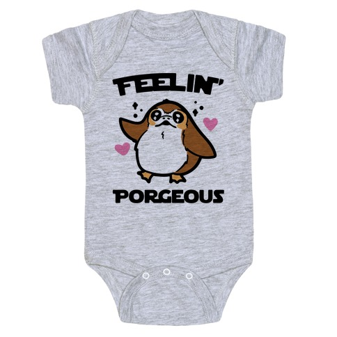 Feelin' Porgeous Parody Baby Onesy