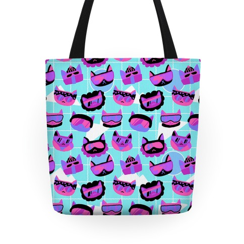 Gnarly Snowboard Cats Tote