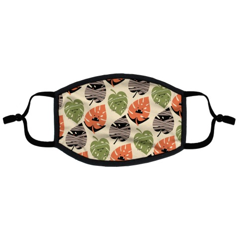 Classic Monstera Monsters Flat Face Mask