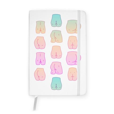 Kawaii Pastel Butt Pattern Notebook
