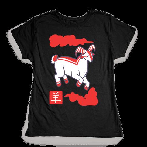 Goat - Chinese Zodiac Womens T-Shirt