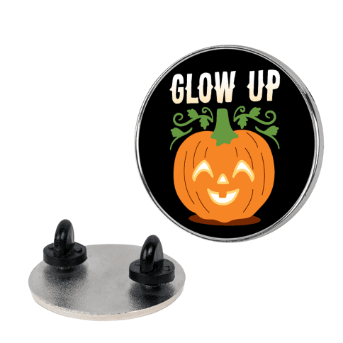 Glow Up Jack-o'-Lantern Pin