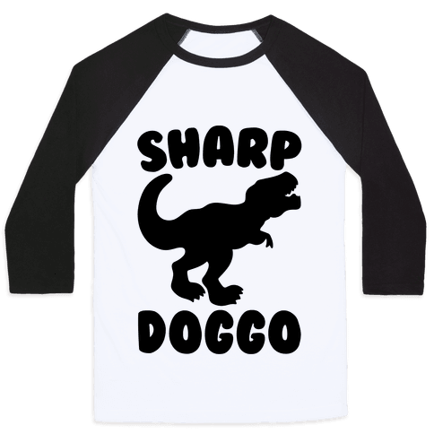 Sharp Doggo Baseball Tee