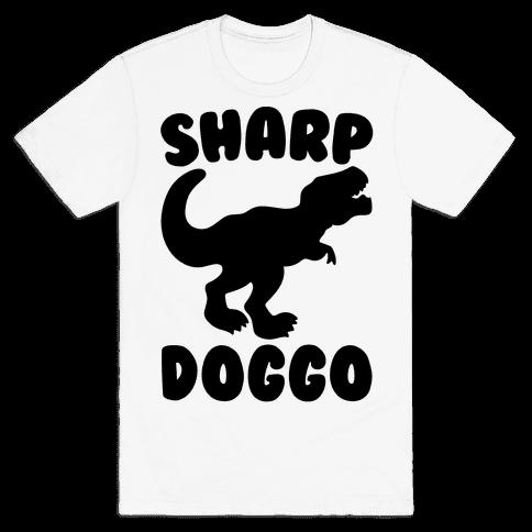 Sharp Doggo Mens T-Shirt