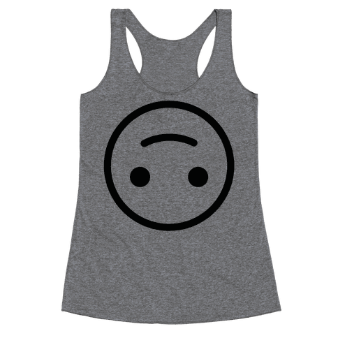 Upside-down Smiley Racerback Tank Top