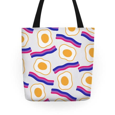 Eggs and Bi-con Pattern Tote