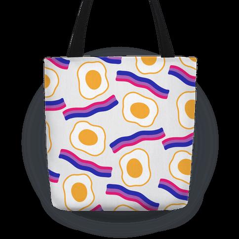 Eggs and Bi-con Pattern Tote
