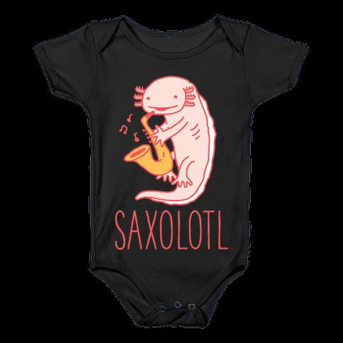 Saxolotl Baby Onesy