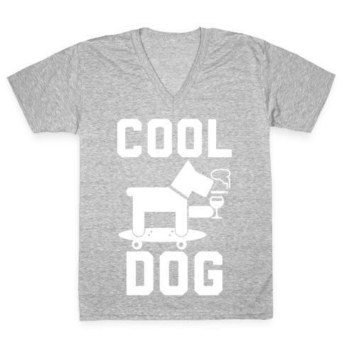 Cool Dog V-Neck Tee Shirt