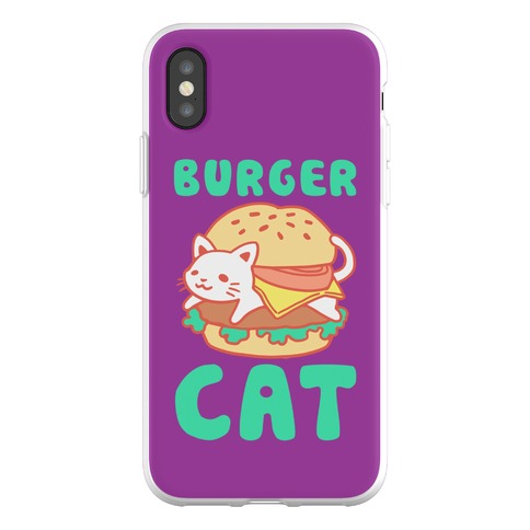 Burger Cat (Text) Phone Flexi-Case