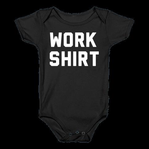Work Shirt Baby Onesy