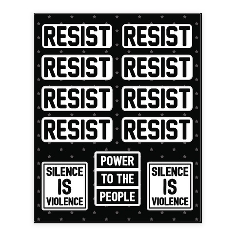 Resist - Silence Is Violence Sticker and Decal Sheet