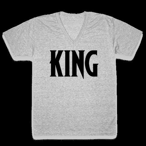 King Parody V-Neck Tee Shirt