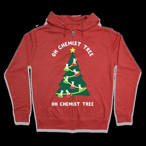 Oh Chemist tree Oh Chemist tree Zip Hoodie