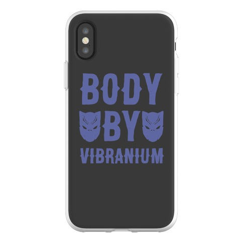 Body By Vibranium Parody Phone Flexi-Case