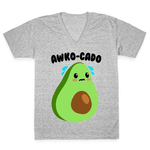 Awko-Cado Avocado V-Neck Tee Shirt