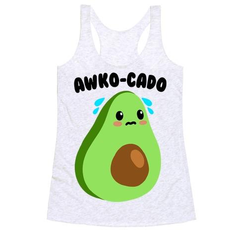 Awko-Cado Avocado Racerback Tank Top