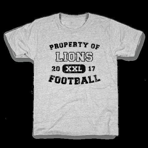 Property of Lions Football test Kids T-Shirt