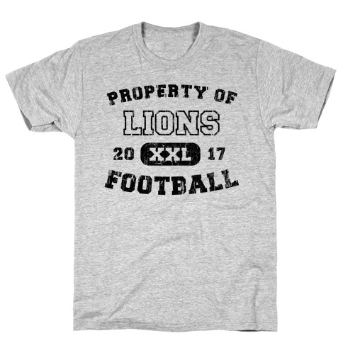 Property of Lions Football test Mens T-Shirt