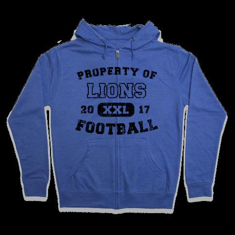 Property of Lions Football test Zip Hoodie