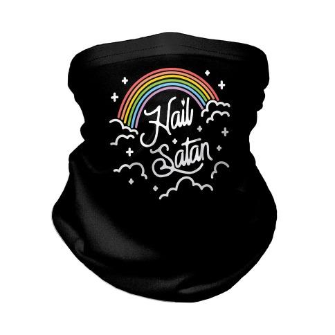Hail Satan Rainbow Neck Gaiter