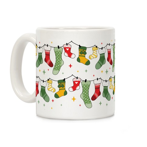 Stockings Pattern Coffee Mug