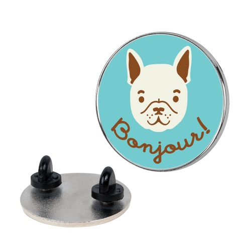 Bonjour French Bulldog pin